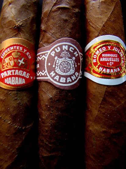 Cuban Cigars by Caroline Fournier http://www.redbubble.com/people/carfour/works/2266981-cuban-cigars