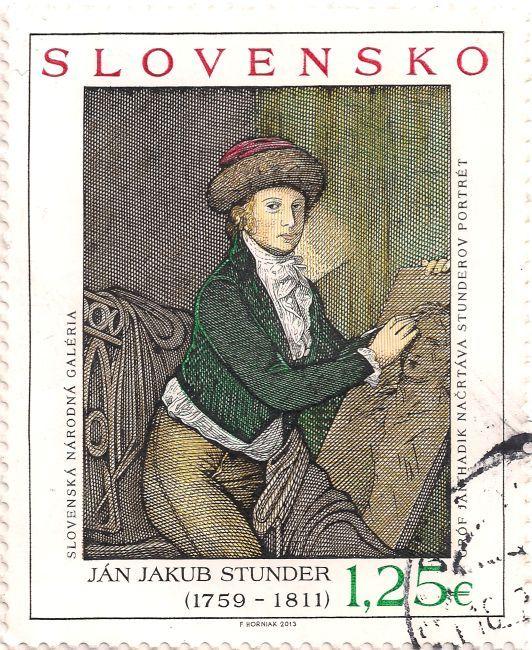 Briefmarke-Europa-Mitteleuropa-Slowakei-1.25-2013-Ján Jakub Stunder