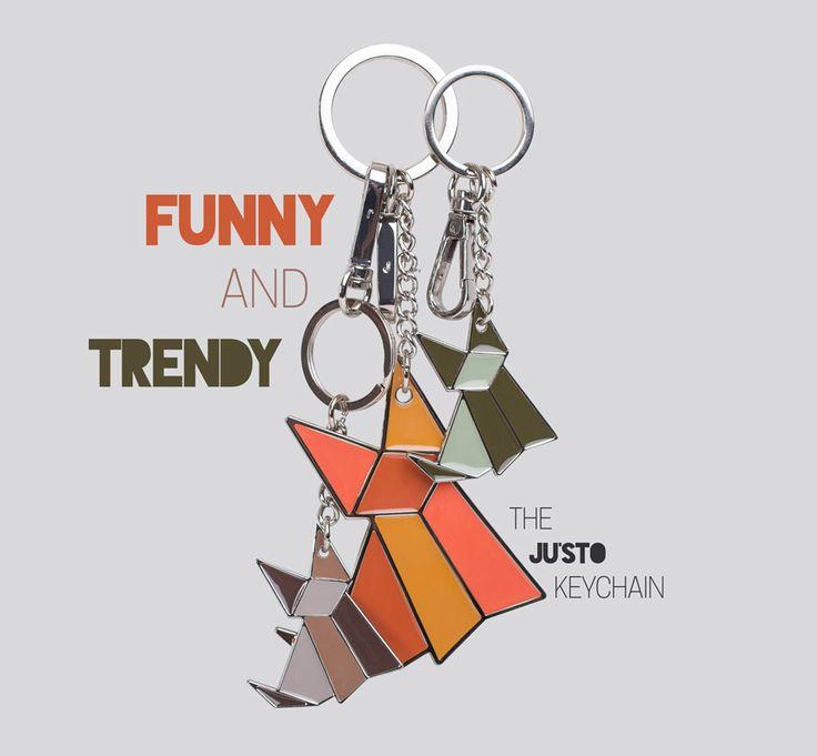 Divertenti e trendy sono i nuovi portachiavi colorati a forma di volpe, firmati JU'STO!
