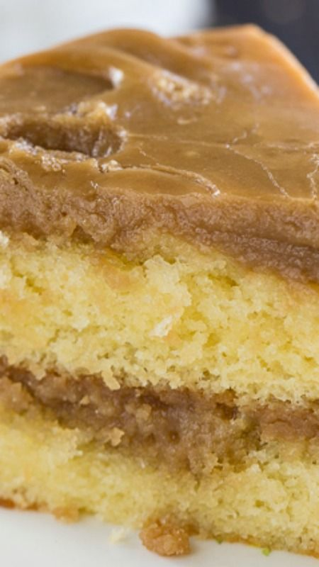 Southern Caramel Cake ~ two delicious and moist cake layers with a fabulously sweet icing.