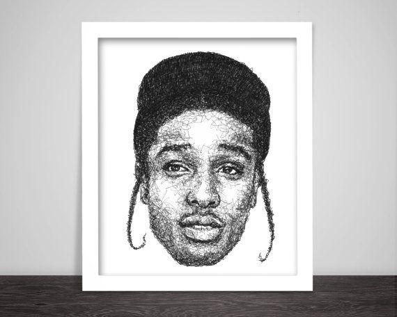 Scribbled ASAP Rocky - Hip Hop Poster