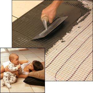If I ever tile my bathroom floor - cool! Heated floor kit from Costco ~$299
