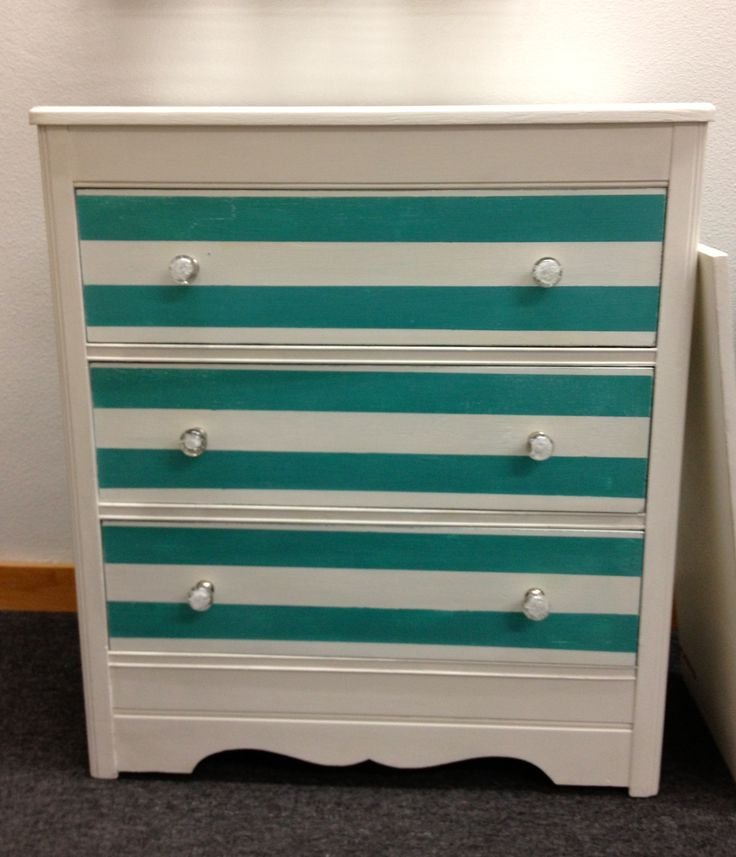 This is a darling dresser that is a custom mix of Provence and Florence Chalk Paint® decorative paint by Annie Sloan.  I put clear glass knobs on from Anthropology.