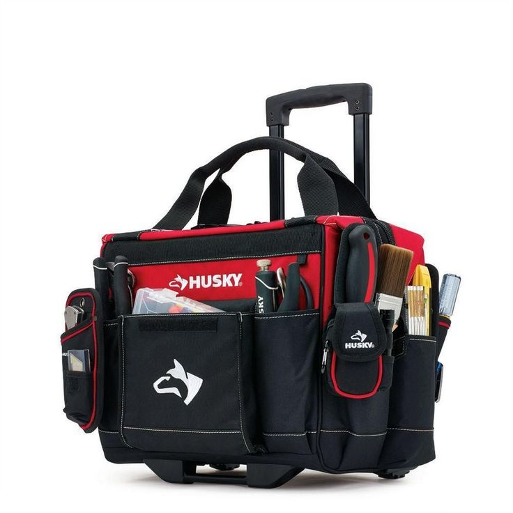 Rolling Mobile Heavy Duty Portable Tool Bag Storage Organizer Tote