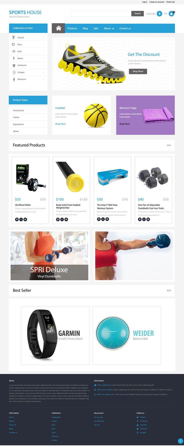 Sport e-commerce web site on Behance
