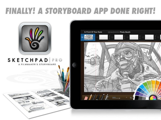 Sketchbook Pro -- Storyboard App.