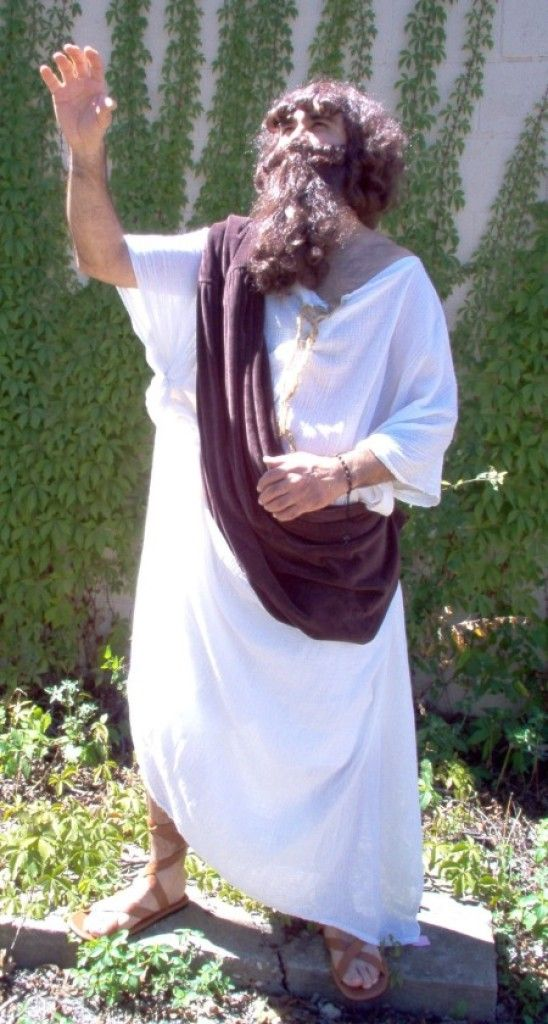 Economy Christmas Pageant Jesus Costume, Jesus Christ Wigs and Beards, Budget Costumes for Biblical Plays