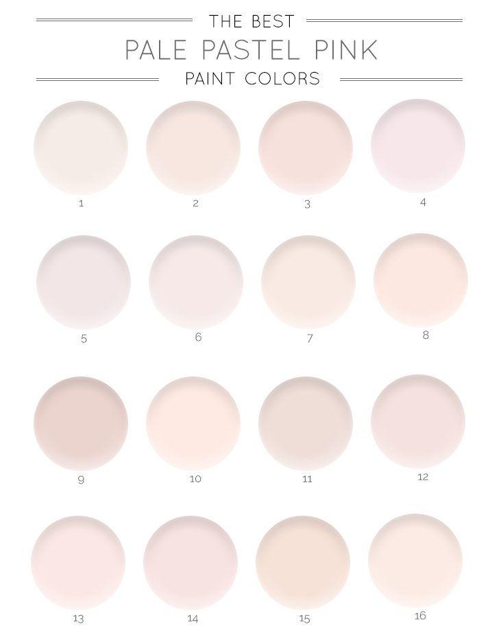 The Best Pale Pink Paint Colors Pink Paint Colors