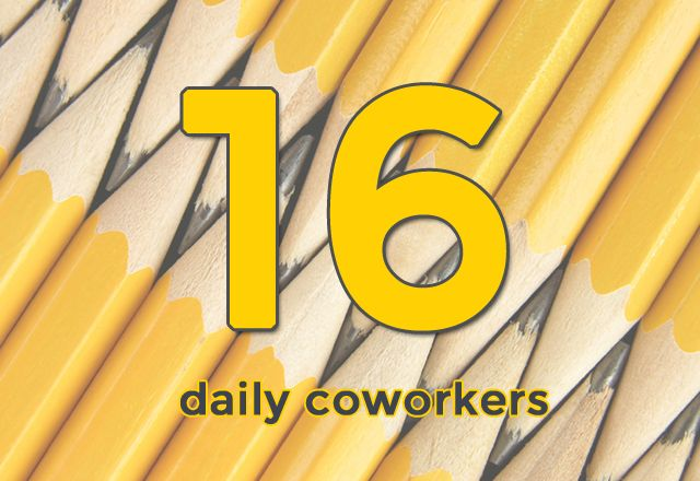 16 Daily co workers each day at The Sett http://thesettonline.blogspot.com/2014/04/1-year-of-sett.html