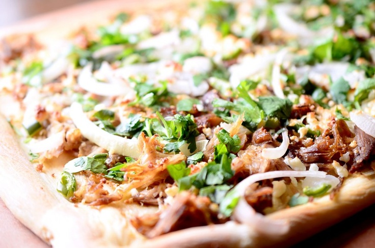 Try our Shredded Pork Neck Pizza!