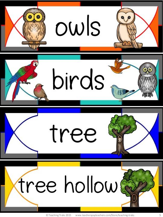FREE Owl word wall cards and fun printables... because everyone loves owls!