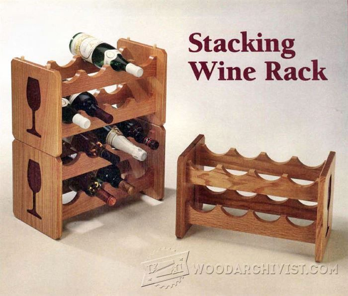 Stacking Wine Rack Plans   Furniture Plans And Projects | WoodArchivist.com Part 63