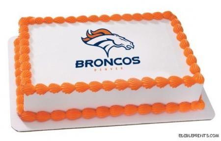 denver bronco birthday cake pictures | Denver Broncos Edible Image Icing Cake Topper | eBay