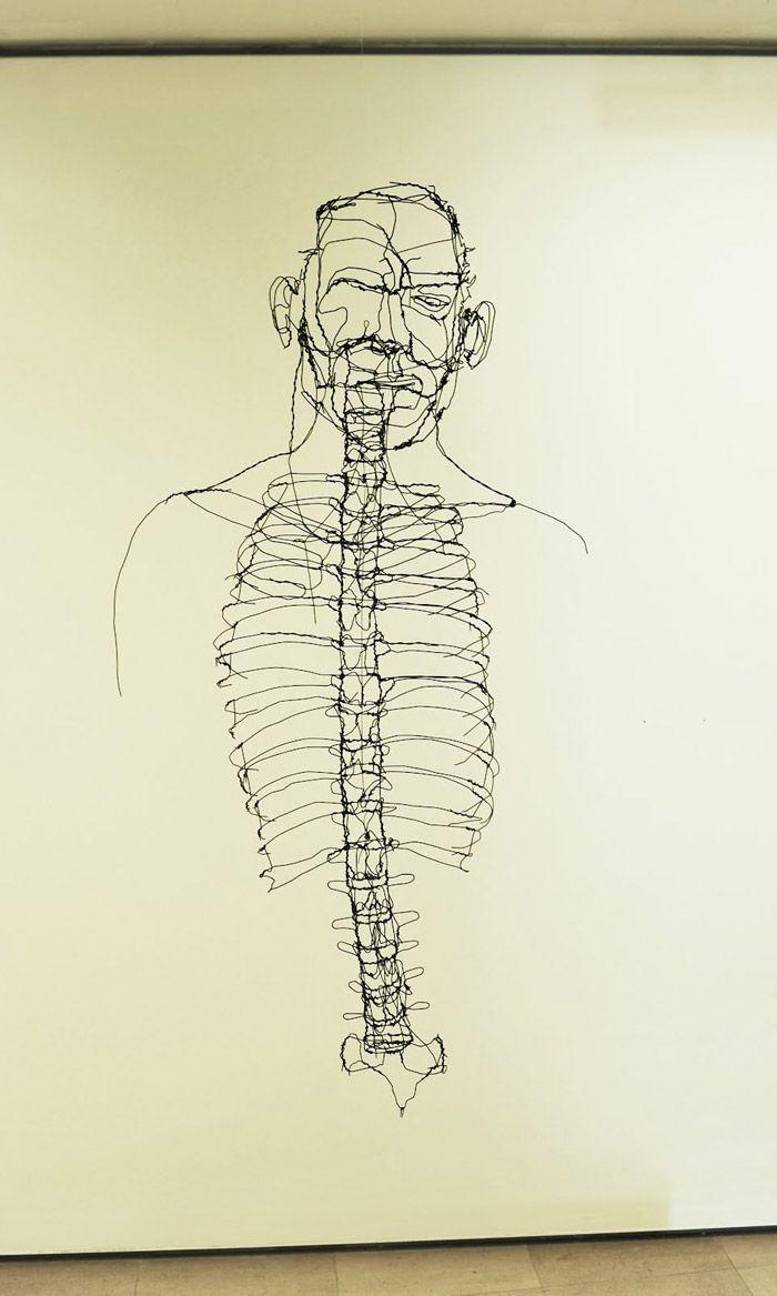 David Oliveira Ribcage wire sculpture