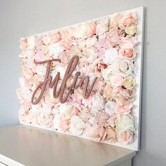 Mädchen Kinderzimmer Dekor Blume Wand Kinderzimmer Blume Brief Floral | Etsy #decor #floral #flower #letter #nursery