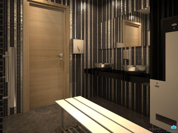 LOCKER ROOM RENDER  Changing room Azerbaijan spa wellness area