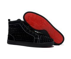 2012 hot sale Best Cheap Christian Louboutin Louis Black Paint Spikes Mens High Top Suede Sneakers CODE: Christian Louboutin 1992 Price: $178.00 http://www.bestpricechristianlouboutin.com/2012-hot-sale-best-cheap-christian-louboutin-louis-black-paint-spikes-mens-high-top-suede-sneakers.html