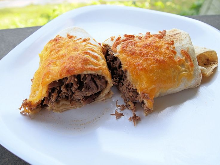 how to make shredded beef chimichangas