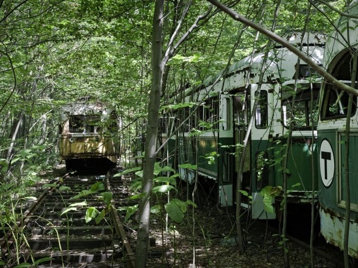 L'Amérique à l'abandon par Matthew Christopher: cimetière de trains