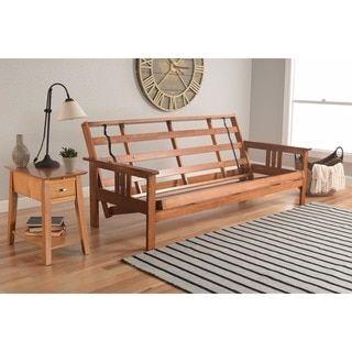 Somette Beli Mont Multi-flex Honey Oak Full-size Wood Futon Frame | Overstock.com Shopping - The Best Deals on Futons