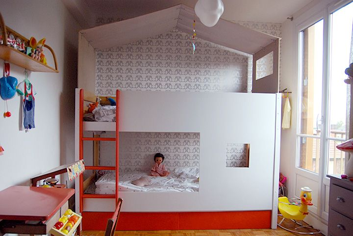 Lit cabane - lits superposés  Mini Reyve