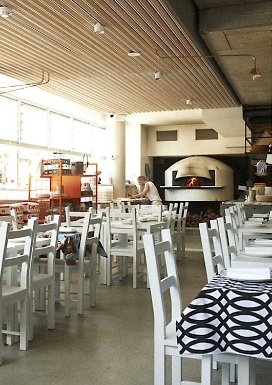 Maurice Terzini's newest eatery, Da Orazio Pizza + Porchetta, offers simple yet moorish plates straight from the wood-fire oven, including traditional pizzas and grilled lamb skewers. Find more of Sydney's chicest destinations here: http://www.countryroad.com.au/livewithus/crs-chic-sydney-guide-where-fashion-eats-and-sleeps.html