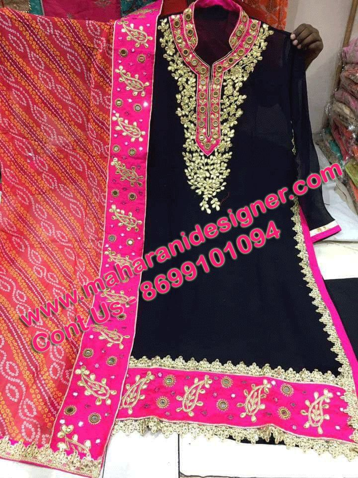 #Partywearsalwarsuitonline #DesignersalwarSuitOnline #LatestSalwarSuitBuyOnline #StylishSalwarSuitonline  Maharani Designer Boutique  To buy it click on this link : http://maharanidesigner.com/Anarkali-Dresses-Online/western-dresses/ Rs - 6000 Dupatta readymate as in pic Gotta Patti Work  Fine quality fabric Available in all colors For any more information contact on WhatsApp or call 8699101094 Website www.maharanidesigner.com