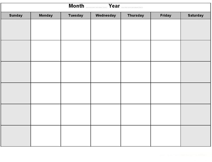 The  Best Blank Monthly Calendar Ideas On   Blank