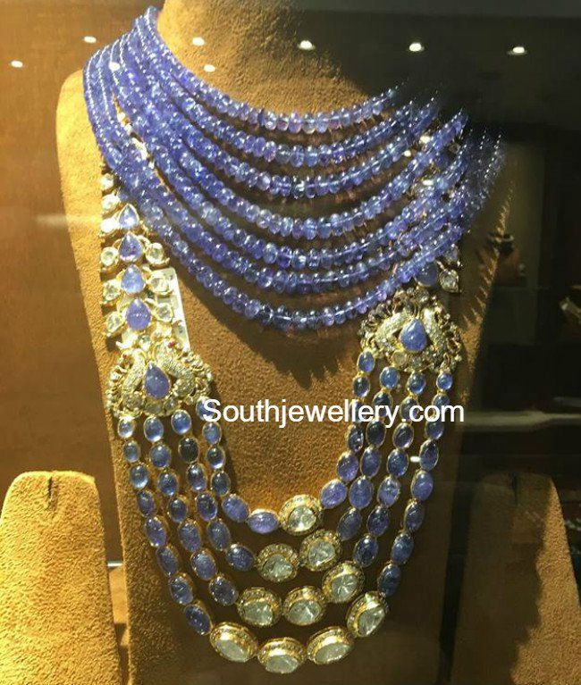 Sapphire Beads Necklace and Long Haram