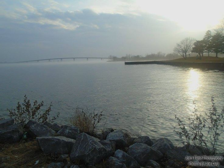 Evening Fog on the Bay of Quinte March 27, 2017 Belleville Ontario