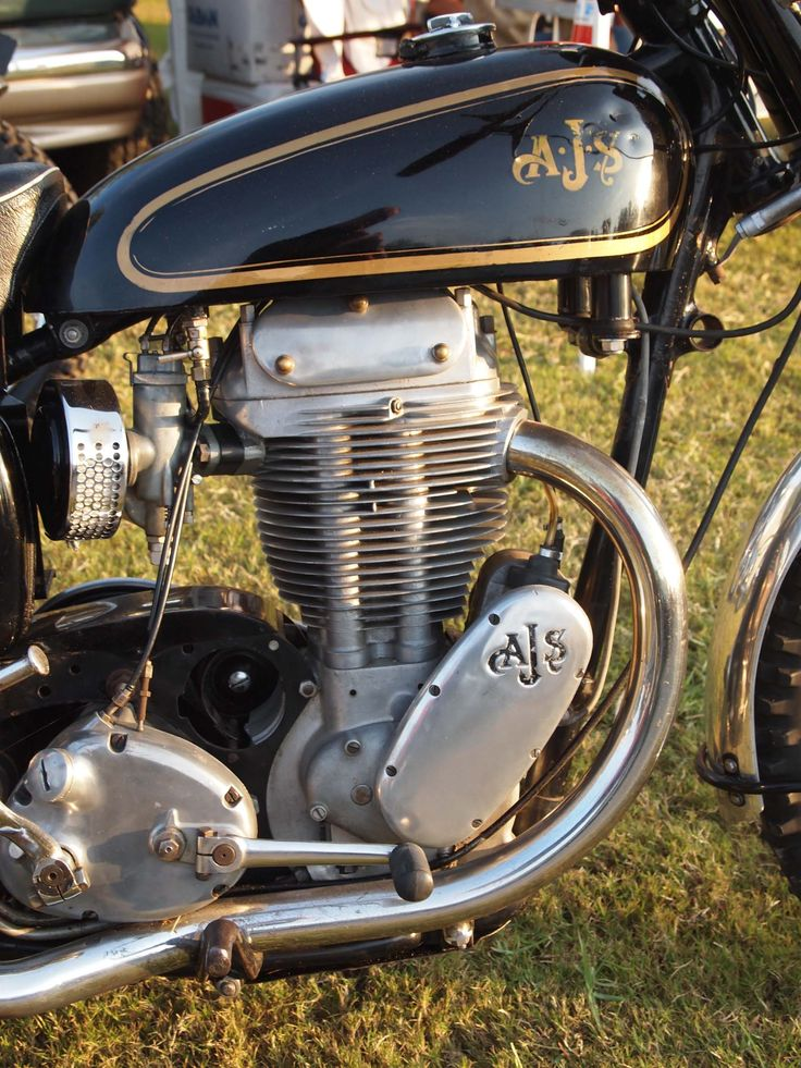 Vintage AJS Motorcycle Engine - Beautiful Bike Motors!