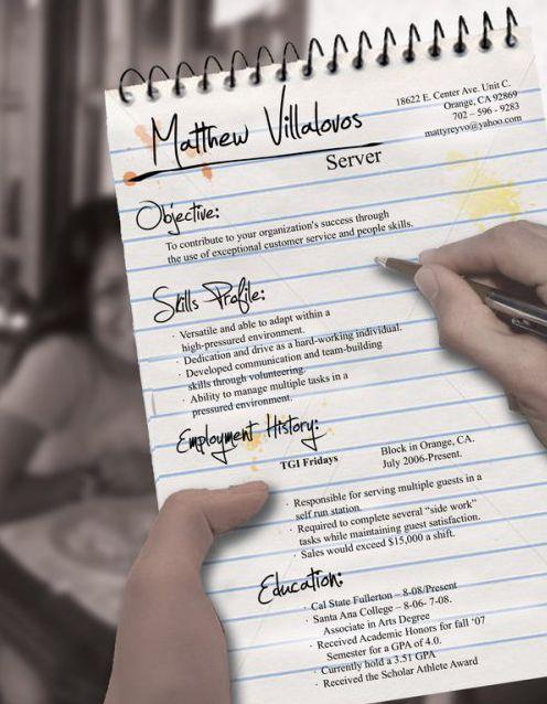74 best resume images on Pinterest Productivity, Resume and Gym - restaurant skills resume