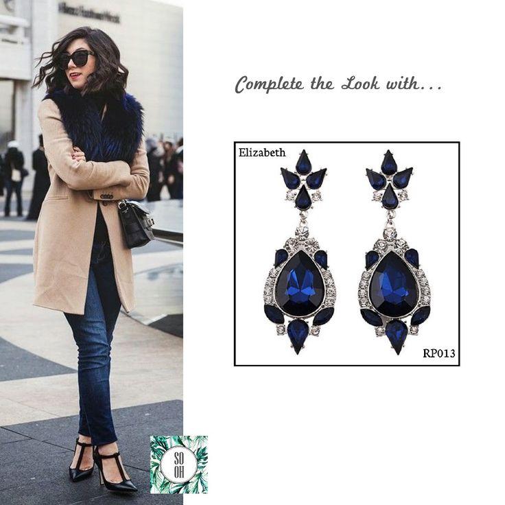 Ref: RP013 Elizabeth Medidas: 8 cm x 2.6 cm So-Oh: 11.99 🌱 #sooh_store #onlinestore #style #inspiration #styleinspiration #brincos #earrings #fashion #shoponline #aw2016 #aw1617 #winterstyle