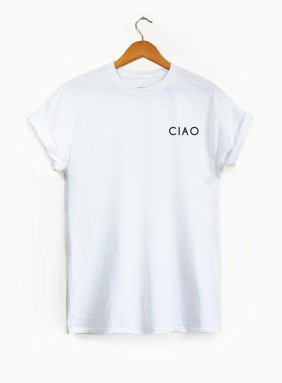 a52f7ae77 Ciao Pocket shirt Ciao Ciao shirt Ciao Italian shirt | Etsy ...