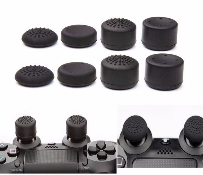 This link included: 8 pcs enhanced caps for PS4 Controller+4 in 1 vertical stand for PS4  All-In-One: PS4 console vertical stand+ cooler+ dualshock charging station+ USB HUB+ controller thumb grips Features 2 built-in fans keep your Play Station 4 console cool and calm, no more overheating after...