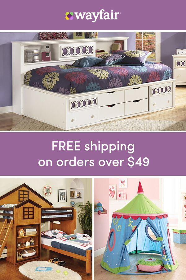 Shop now for exclusive sales, all at up to 70% OFF! Give kids the space that they want, on the budget YOU want. From high chairs to bunk beds, we've got the furniture that you've been looking for in styles that they'll love. To top it off, we're offering FREE shipping on all orders over $49.