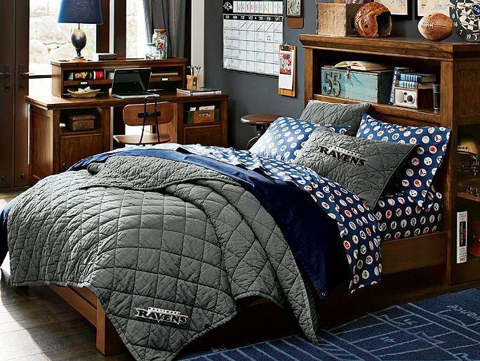 I Love The PBteen Oxford NFL Bedroom On Pbteen.com
