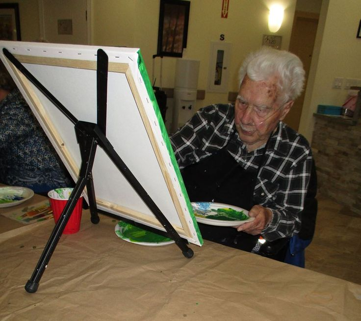 Paint Party At Retirement Suites of Kawartha Lakes! Spirits and Splatters Paint Party.