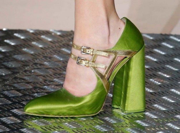 Prada, Mary jane verdi - Modello verde con tacco alto fra le scarpe da donna Autunno/Inverno 2015/2016