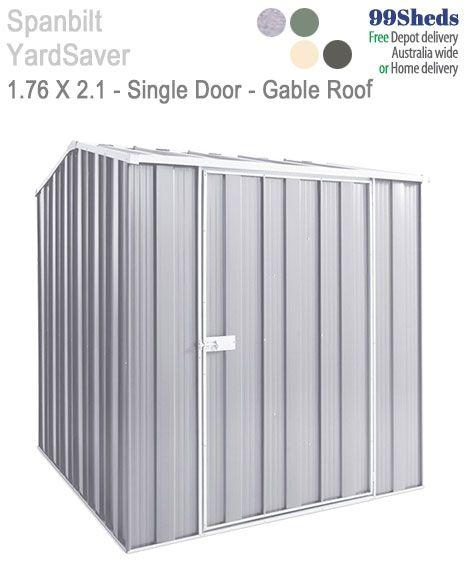 Yard Saver Spacemaker G56 1.76m x 2.1m Single Door