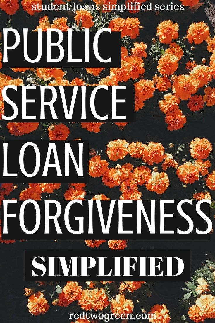 public service loan forgiveness simplified