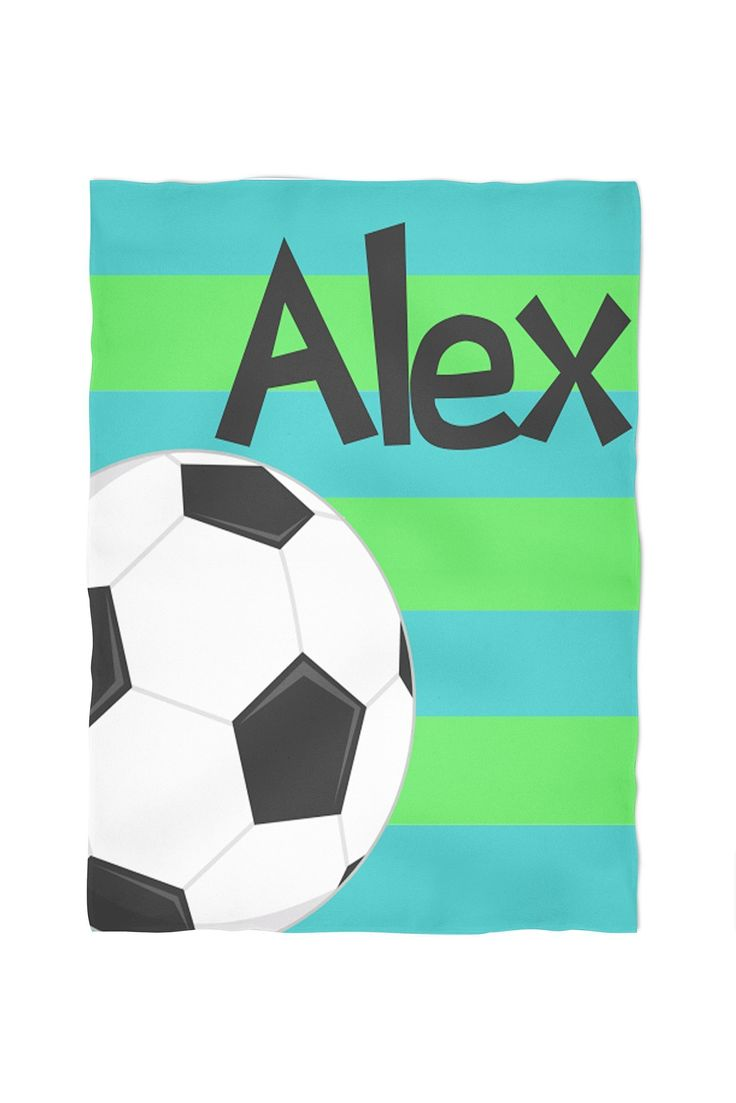 Soccer Personalized Throw Blanket. Cuddle up with one of our personalized, super soft blankets. You choose between our standard, soft fleece or the super soft, plush furry fleece. Both are printed using water based eco friendly dyes. They come in three sizes: small (40x30), medium (60x50) or large (80x60). The standard fleece is printed on one side, as the plush is printed on both. All are machine washable and sure to be a family favorite.
