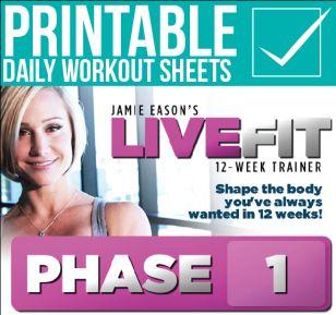 Jamie Eason's Live Fit - Printables