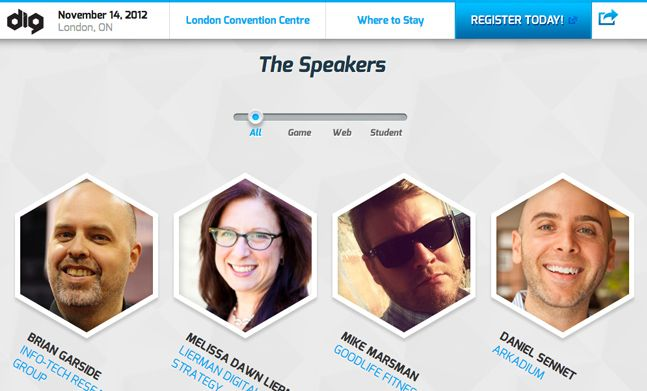 it conference web design