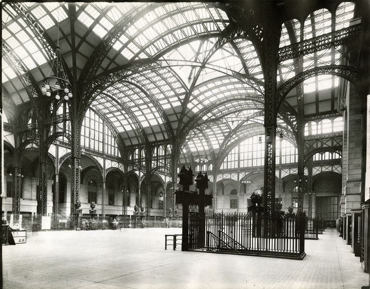 Penn Station Train Concourse Ca 1910 Photograph Mmw Architectural Record Collection Nyhs