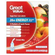 Great Value Energy Variety Pack Drink Mix, 20 count, 1.98 oz $2.88  $1.46 / oz