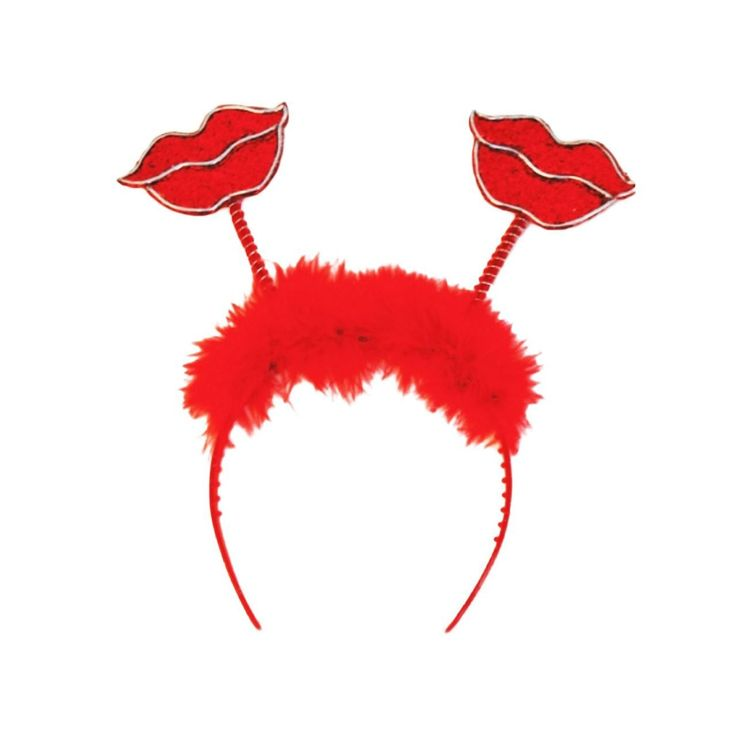 fancydressvip - Glitter Lips Valentines Bopper Headband, £3.99 (http://www.fancydressvip.com/books-tv-film-music/moulin-rouge/glitter-lips-valentines-bopper-headband/)