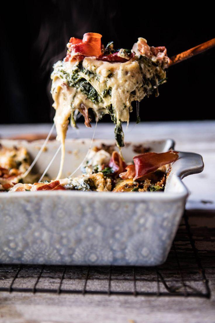 Crispy Prosciutto Cheesy White Lasagna | halfbakedharvest.com @hbharvest