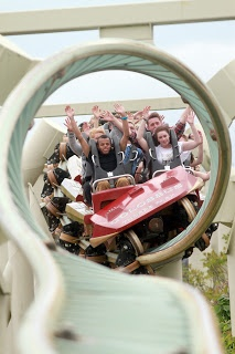 Colossus at Thorpe Park, lots of loops some very small!