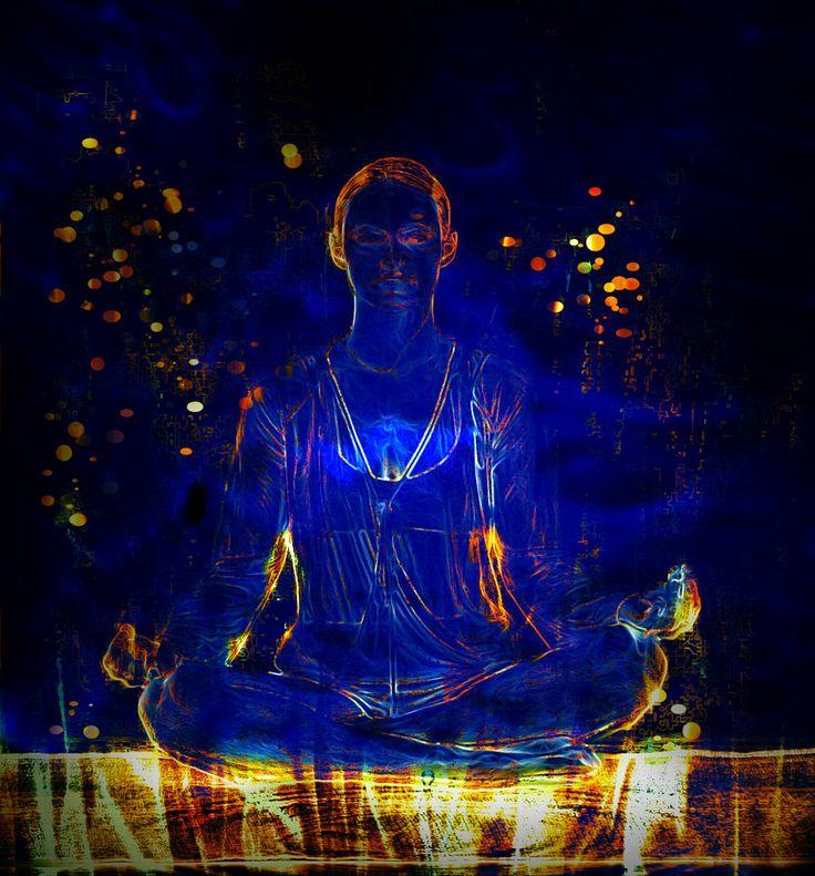 Blue Meditation ~ Santai Rileks !! Rileks ahhh #Meditation ~ #digitalArt #Photoshop